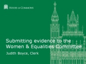 SubmittingEvidence-Women&EqualitiesCommittee
